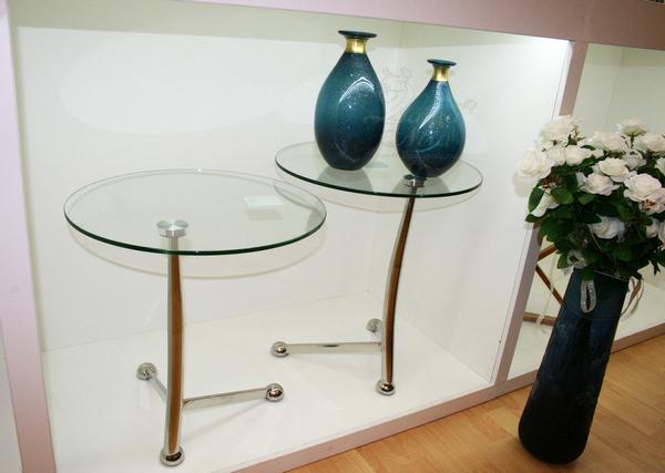 Cтол стеклянный круглый 13RX5079 купить в интернет магазине lamamia.ru с бесплатной доставкой