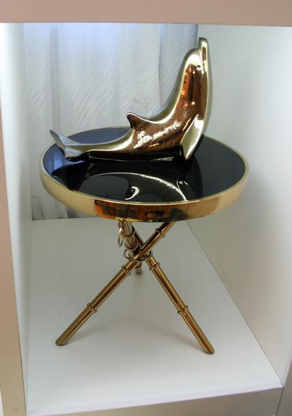 Cтолик круглый золотой с кольцами 13RX6035-GOLD купить в интернет магазине lamamia.ru с бесплатной доставкой