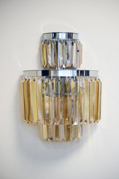 15-B6000-3AMBER Бра хрустальное настенное янтарной тонировки купить в интернет магазине lamamia.ru