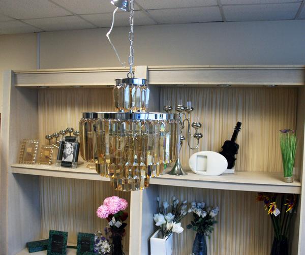 15-D6000-11AMBER Светильник потолочный из хрусталя купить в интернет магазине lamamia.ru