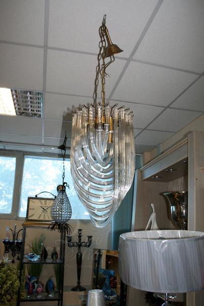 15-D6187-3 Светильник потолочный из гнутых стеклянных трубок купить в интернет магазине lamamia.ru
