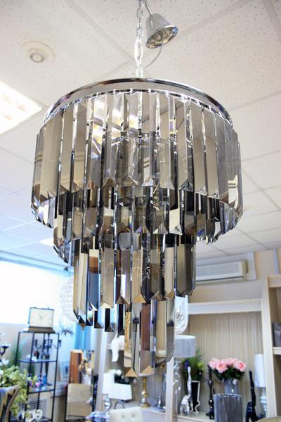 15-D6239-5GREY Светильник потолочный из дымчатого хрусталя купить в интернет магазине lamamia.ru