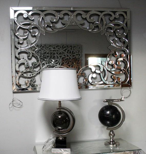 Прямоугольное зеркало на стену с витым орнаментом 17-0926 купить в интернет магазине lamamia.ru с бесплатной доставкой по Москве