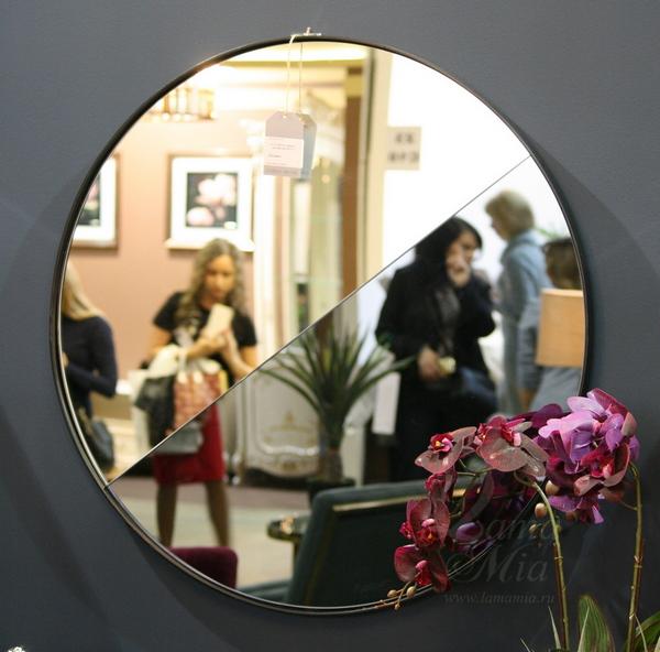 Зеркало двухцветное круглое 19-ОА-5903-2 купить в интернет магазине lamamia.ru