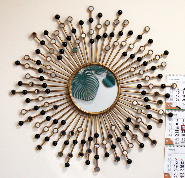Зеркало декоративное с золотыми лучами 19-ОА-6056 купить в интернет магазине lamamia.ru