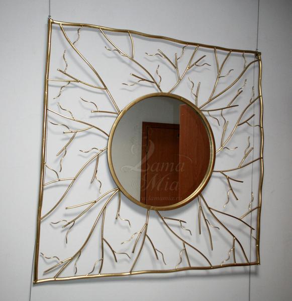 Зеркало настенное с золотым декором 19-ОА-6139 купить в интернет магазине lamamia.ru