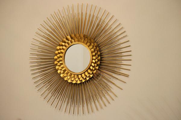 Зеркало Солнце с металлическим корпусом 19-OA-5657-1 купить в интернет магазине lamamia.ru с бесплатной доставкой по Москве