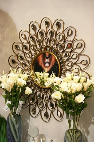 Зеркало оригинальное в бронзовой раме 19-OA-5838 купить в интернет магазине lamamia.ru с бесплатной доставкой по Москве