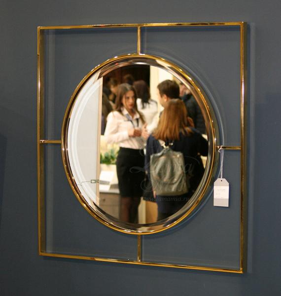 Зеркало золотое в квадратной раме 19-OA-5892 купить в интернет магазине lamamia.ru