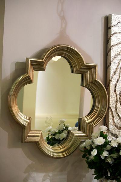 Зеркало в серой фигурной раме 19-OA-71073 купить в интернет магазине lamamia.ru с бесплатной доставкой по Москве