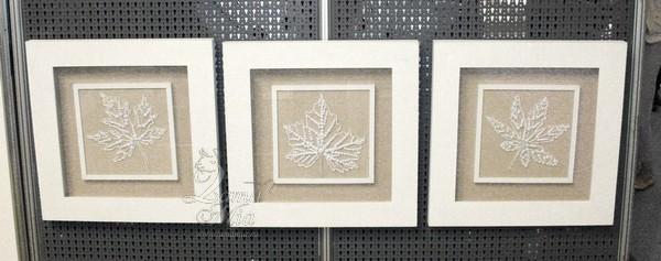 Декоративное панно Листья белые 22398 купить в интернет магазине lamamia.ru с бесплатной доставкой
