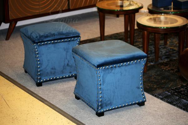 Банкетка мягкая синяя с ящиком 24YJ-5005-06466 купить в интернет магазине lamamia.ru с бесплатной доставкой