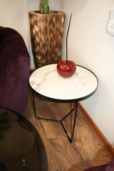 Столик белый мраморный с металлическим корпусом 33FS-ET276-BL купить в интернет магазине lamamia.ru, бесплатная доставка по Москве