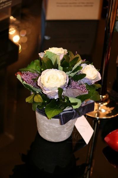 Цветочная композиция стабилизированная в горшке (розы) 34JN-100 купить в интернет магазине lamamia.ru