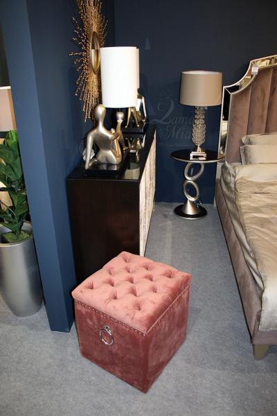 Банкетка дымчато-розовая с внутренним ящиком 48MY-5208-T DRO купить в интернет магазине lamamia.ru