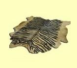 Шкура зебры черно-коричневая