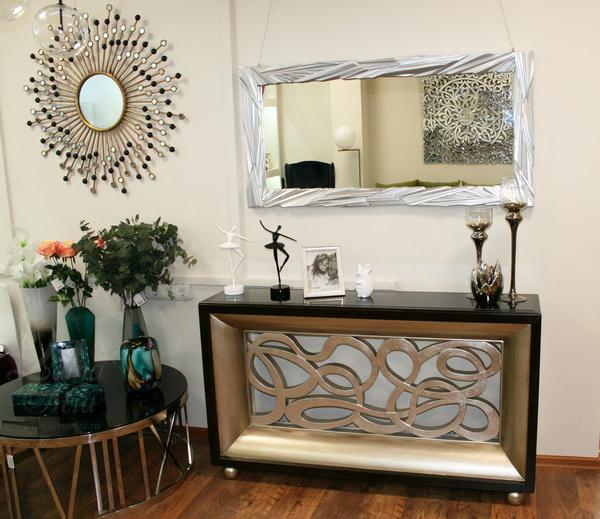 Зеркало серебристое в декоративной раме 65-RZ1 купить в интернет магазине lamamia.ru