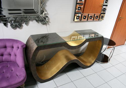 Cтол журнальный фигурный со стеклом ART-4439-D купить в интернет магазине lamamia.ru