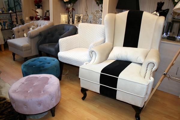 Кресло белое с чёрной полосой DY-732 купить в интернет магазине lamamia.ru с бесплатной доставкой по Москве