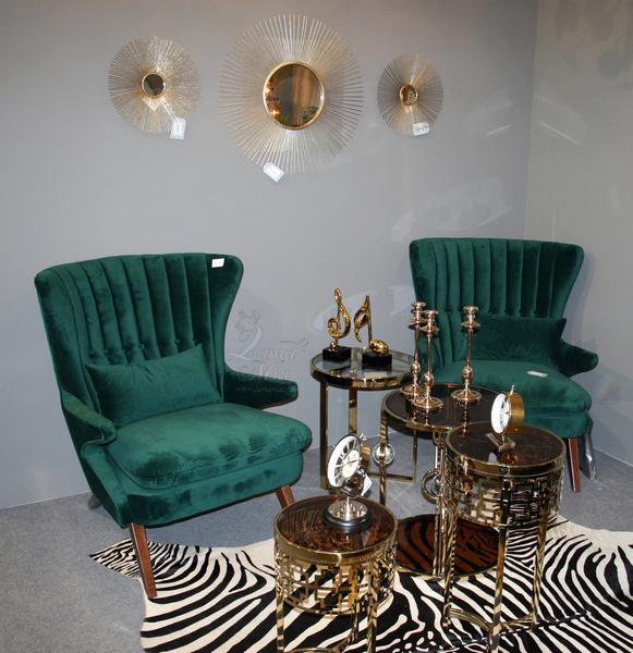 Зеркало круглое с металлическими лучами 37SM-0734-R купить в интернет магазине lamamia.ru с бесплатной доставкой по Москве