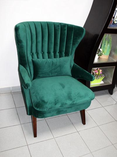Кресло зелёное широкое DY-733 купить в интернет магазине lamamia.ru с бесплатной доставкой по Москве