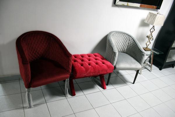 Кресло бордовое стёганое FC-32RE и кресло серое стёганое FC-32GR купить в интернет магазине lamamia.ru с бесплатной доставкой