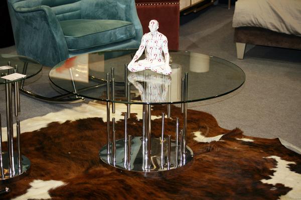 Стол круглый с прозрачным стеклом GY-CT8089 купить в интернет магазине lamamia.ru, бесплатная доставка по Москве