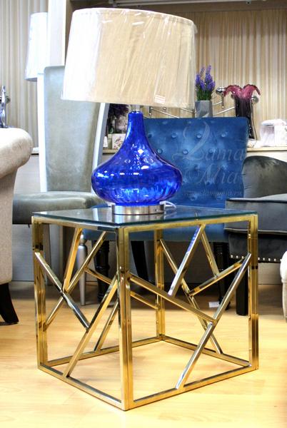 Cтолик золотой металлический журнальный GY-ET2051214GOLD в интернет магазине lamamia.ru