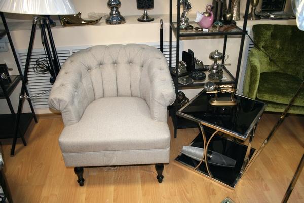 Кресло серое широкое HD2109782-12945-3 купить в интернет магазине lamamia.ru