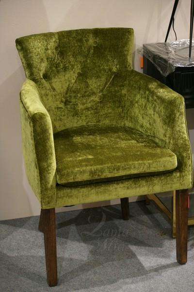Кресло зелёное велюровое HD2203285-1061-47 купить в интернет магазине lamamia.ru