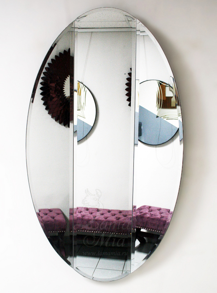 Зеркало овальное с вертикальными фасками KFG025 купить в интернет магазине lamamia.ru