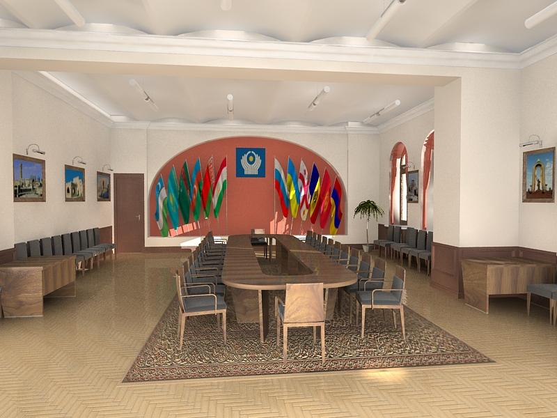 Ковры в интерьере конференц-зала