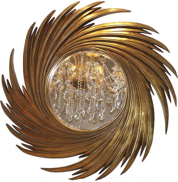 Зеркало золотое круглое LH159G купить с бесплатной доставкой в интернет магазине lamamia.ru