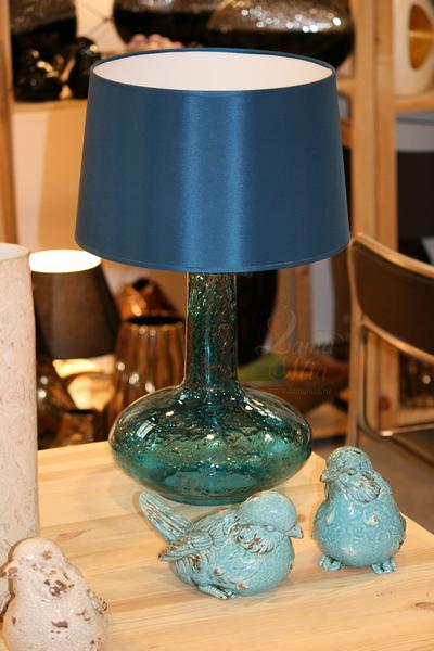 Лампа настольная Индиго, синее стекло, Португалия P2870/Indigo купить с бесплатной доставкой в интернет магазине lamamia.ru