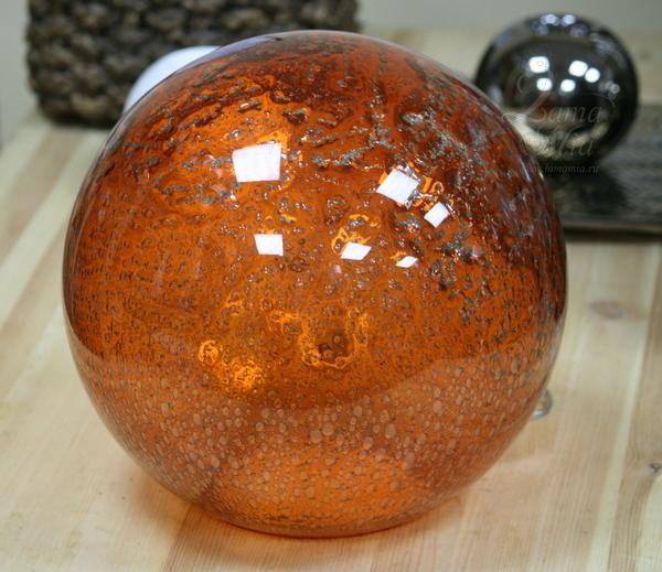 Лампа стеклянная Оранжевый шар P9888/Orange  купить с бесплатной доставкой в интернет магазине lamamia.ru