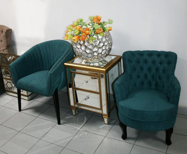 Кресло тёмно-бирюзовое велюровое PJC741-PJ618 купить в интернет магазине lamamia.ru