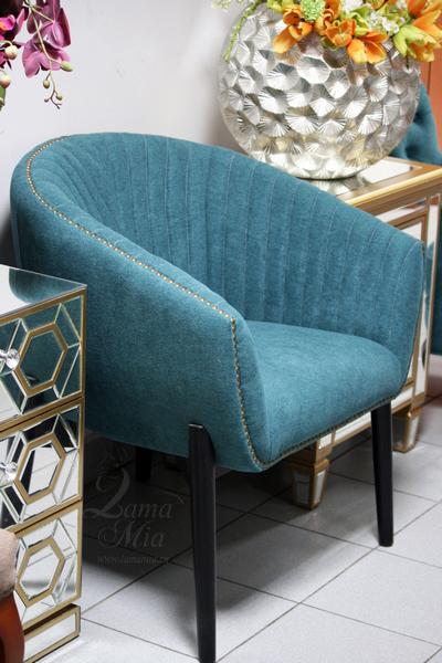 Кресло низкое велюровое тёмно-бирюзовое PJC379-PJ618 купить в интернет магазине lamamia.ru
