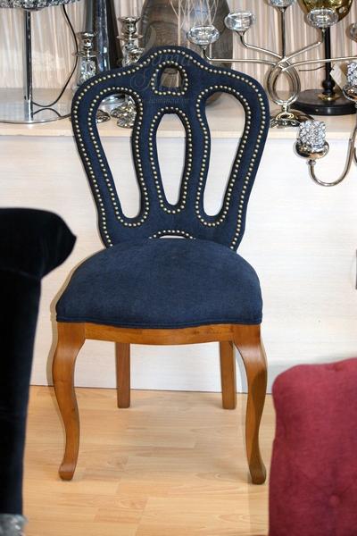 PJC397-PJ609 Купить стул тёмно-синий в интернет магазине lamamia.ru