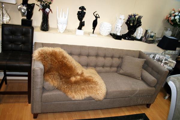 Диван серо-бежевый трёхместный PJS08903-PJ619 купить в интернет магазине lamamia.ru с бесплатной доставкой