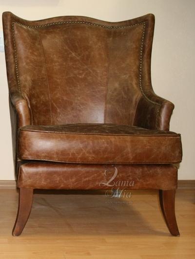 Купить кресло из английской винтажной кожи PJS11901-PJ437 в интернет магазине lamamia.ru
