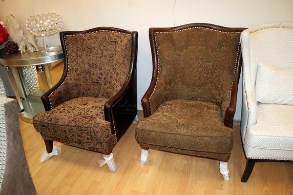 Кресло коричневое с жаккардовой обивкой PJS11901-PJ887/PJ953 и PJS11901-PJ882/PJ955 купить в интернет магазине lamamia.ru с бесплатной доставкой по Москве