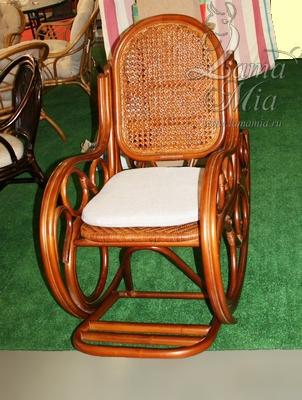 Кресло-качалка 004.001 Novo из ротанга с подушкой купить в интернет магазине lamamia.ru