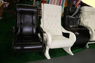 Кресло для отдыха, обтянутое экокожей купить в интернет магазине lamamia.ru