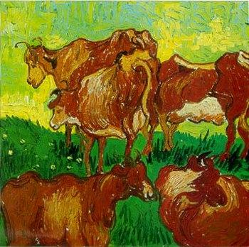 """Винсент Вильям Ван Гог, """"Коровы"""""""