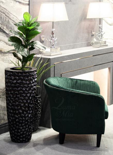 Кашпо напольное жемчужно-чёрное, 86 см ZS-C785BL-34 купить в интернет магазине lamamia.ru