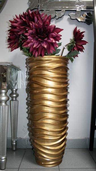 Кашпо золотое напольное, 84 см ZS-C845-34 купить с бесплатной доставкой в интернет магазине lamamia.ru