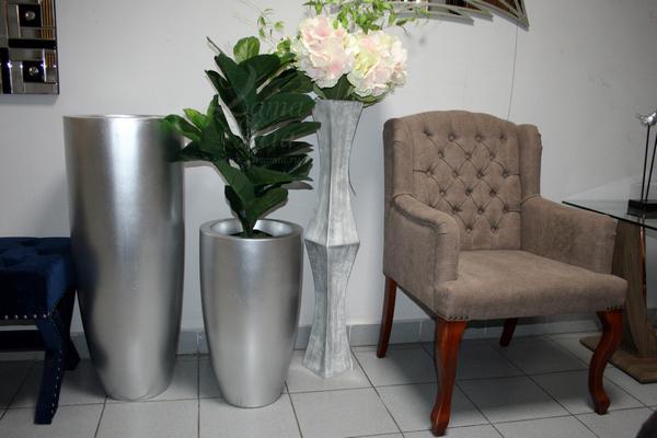 Купить кашпо гладкое серебряное, 91 см ZS-C899-36 в интернет магазине lamamia.ru
