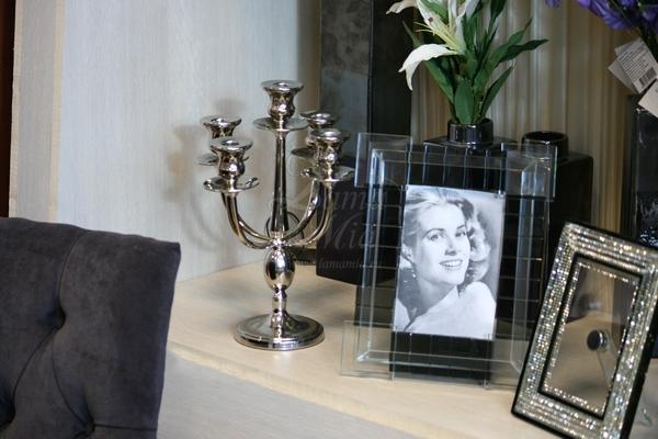 Канделябр пятирожковый никелированный из металла купить в интернет магазине lamamia.ru