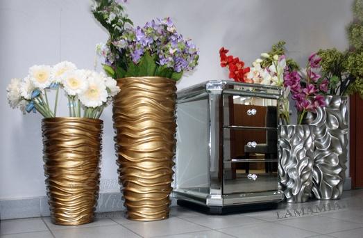 Кашпо золотое напольное купить в интернет магазине lamamia.ru