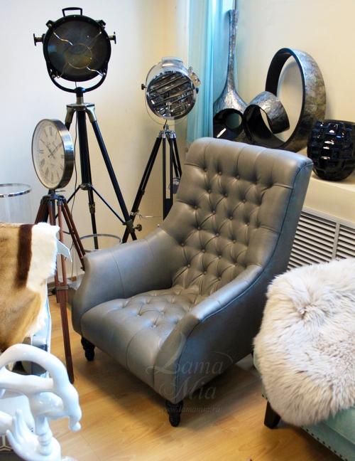 Кресло в стиле Честерфилд ZW-455 купить в интернет магазине lamamia.ru с бесплатной доставкой по Москве